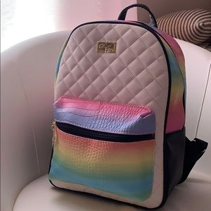 BETSEY JOHNSON Ombré Pastel Mid-Size Backpack
